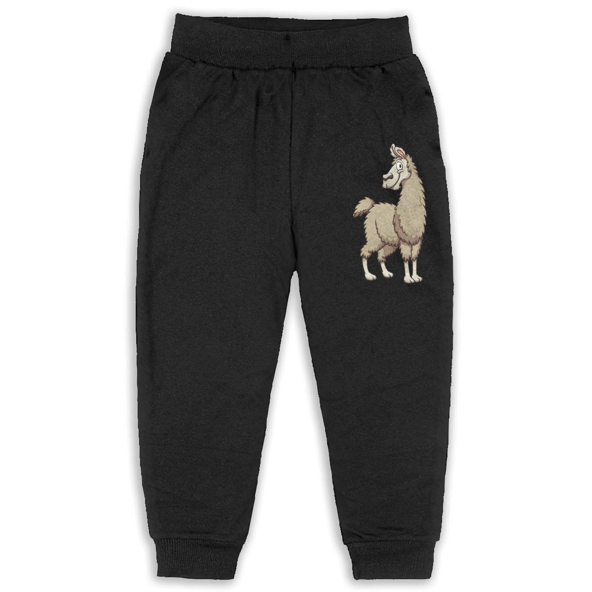 Unisex Kids No Prob Llama Fashion Sleep Sweatpants Black Gift with Pockets Pajamas