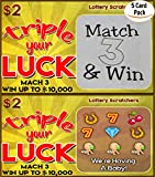 High quality Pregnancy Announcement Lotto Replica Scratch Off Ticket Triple Your Luck Pregnancy Reveal Fake Lottery Ticket Baby Announcement Card (5 cards) By Steply