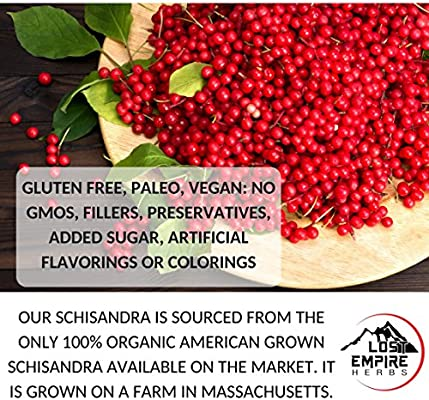 Schisandra Powder - 5:1 Organic Concentrate - Anti-Aging Adaptogenic Herb, Liver Detox, Cognitive Support, Stress Relief and More - Gluten Free, Paleo, Vegan, and Keto Friendly (30 Gram)