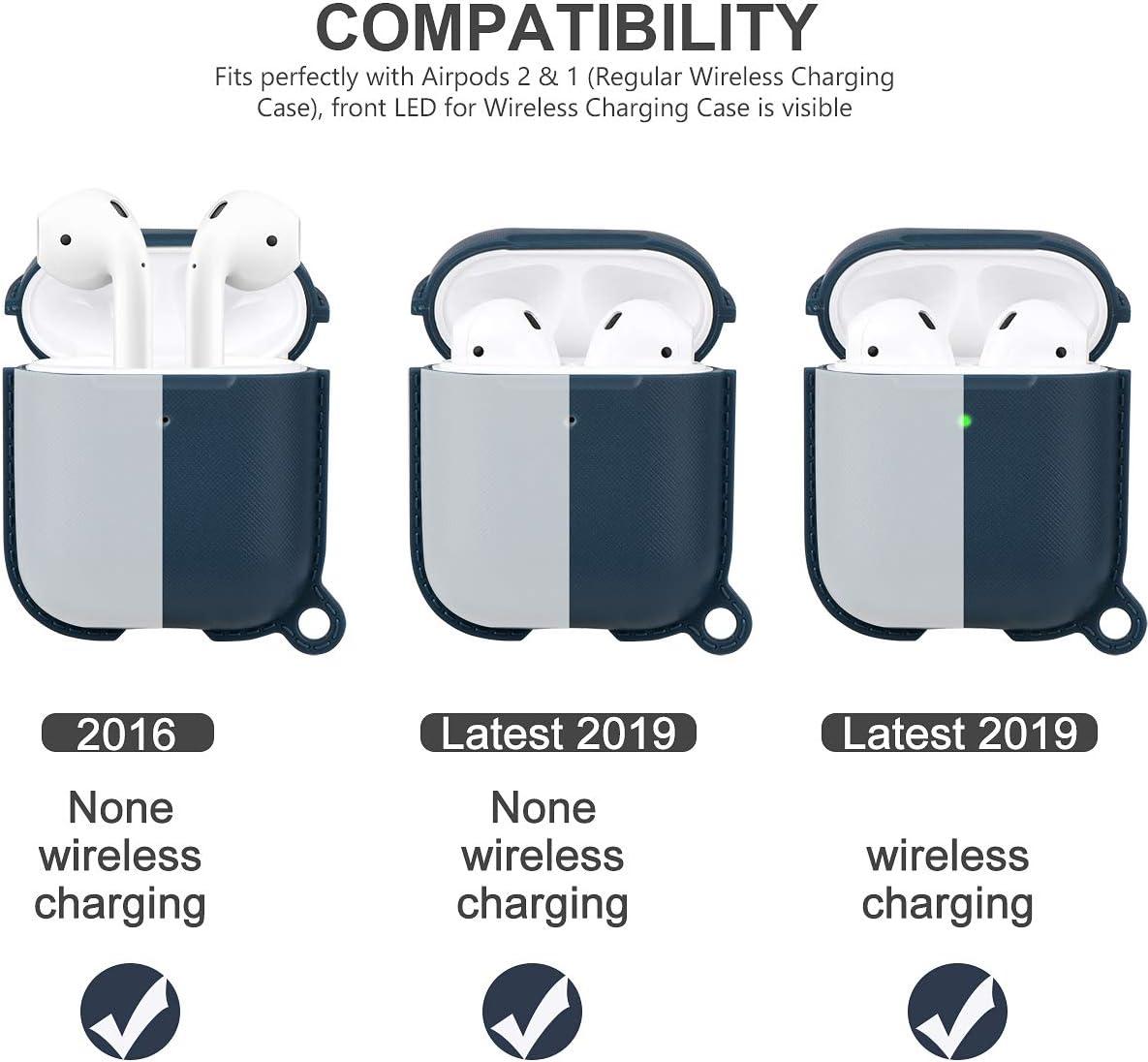 EXCEART /Étui pour /Écouteurs de Vache Compatible pour Apple Airpods 1//2 /Étui de Charge sans Fil en Silicone pour /Écouteurs