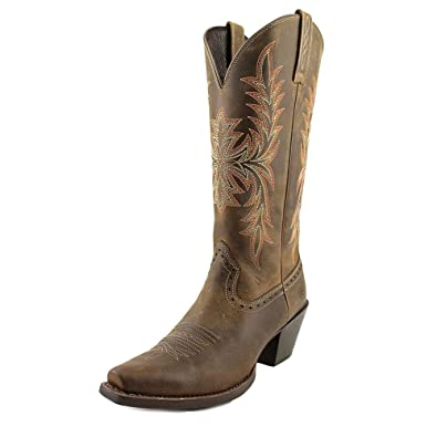 Ariat Womens Round Up Maddox New West 6 B Distressed Brown