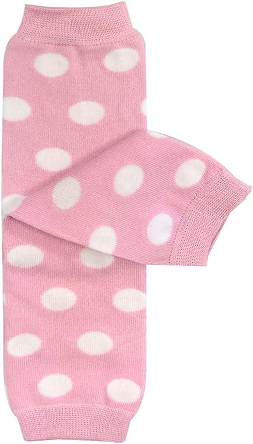 Lavender Polka Dot Aqua Hot Pink Yellow Wrapables Colorful Baby Leg Warmers Set of 4