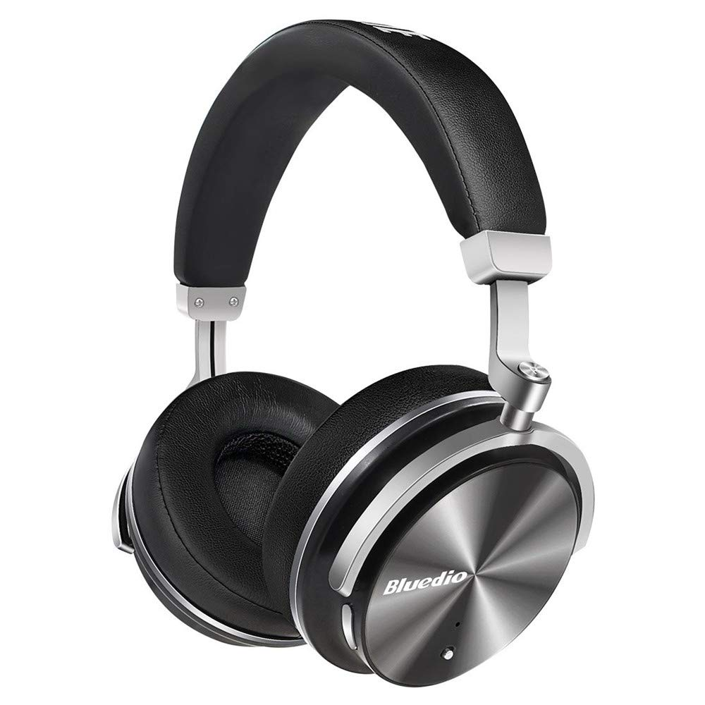 Active Noise Cancelling Headphones, TechCode Wireless On-Ear Headphones with Microphone HD Sound Deep Bass Bluetooth Earphones Swiveling Sport Headset for iPhone, Android Phone, PC Computer (Balck)