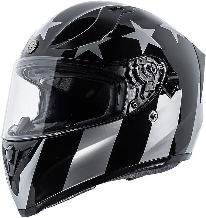 Torc T15 Gloss Black Captain Shadow Bluetooth Full Face Motorcycle Helmet Street