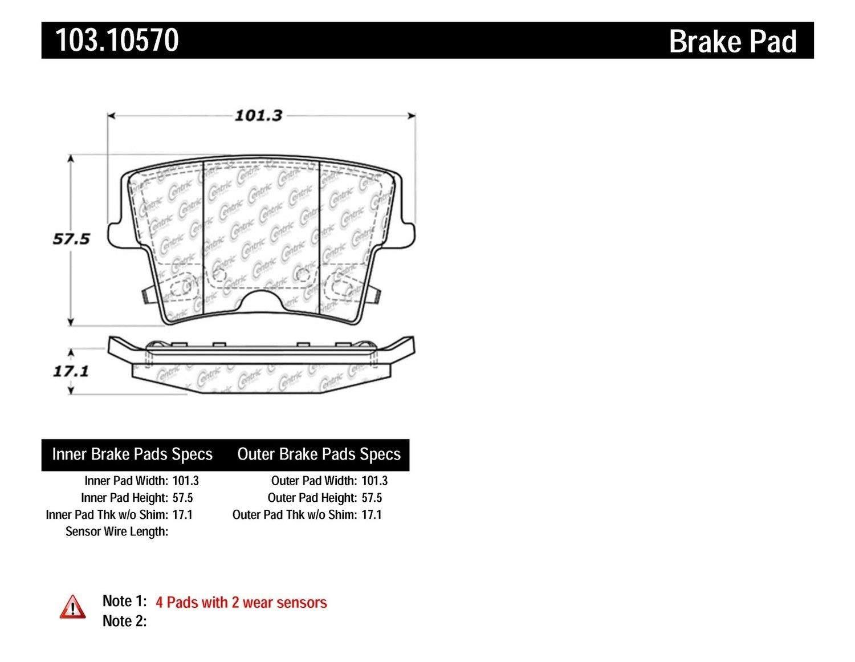 Brake Pad Ceramic 103.10570 Centric