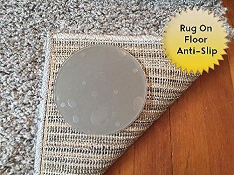 Pegatinas antideslizantes para alfombrasPegatinas antideslizantes reutilizables para alfombras.No dejan residuos.Paquete de 8