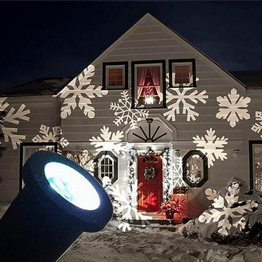 Amazon.com: [Proyector LED de copos de nieve],JUSTUP ...