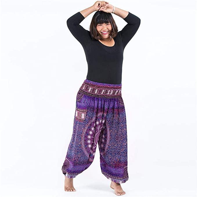 Amazon.com: Mldie Plus Size Women Casual Loose Hippy Yoga ...