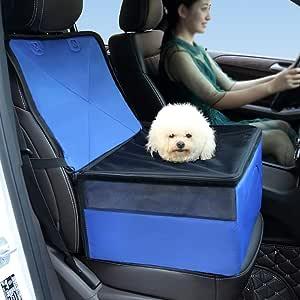 HSTYAIG Pet Dog Carrier Seat Safe Carry House Cat Puppy Bag Dog Car Seat Waterproof Dog Seat Bag Basket Pet Products (Blue)