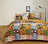 Olivia's Heartland Antique Bloom Quilt Set - Twin