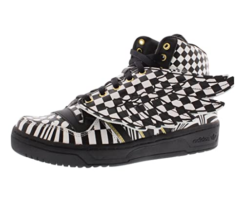 outlet store e0ec1 7c021 adidas Originals ObyO JS Jeremy Scott Wings Op Art G95768 Black White Gold  Men s