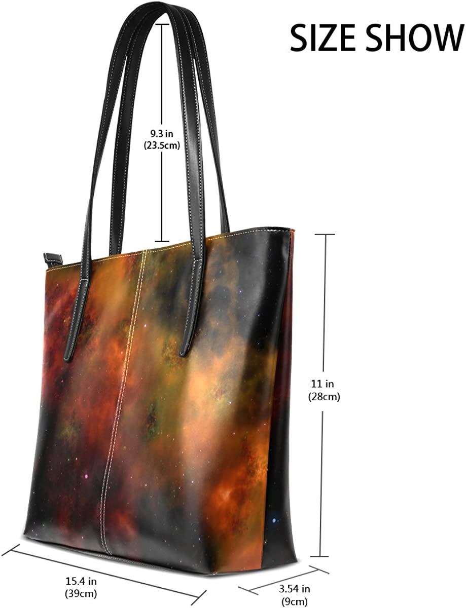 Ethel Ernest Universe Space Purse PU Leather Shoulder Tote Bag Purse for Womens Girls Ladies