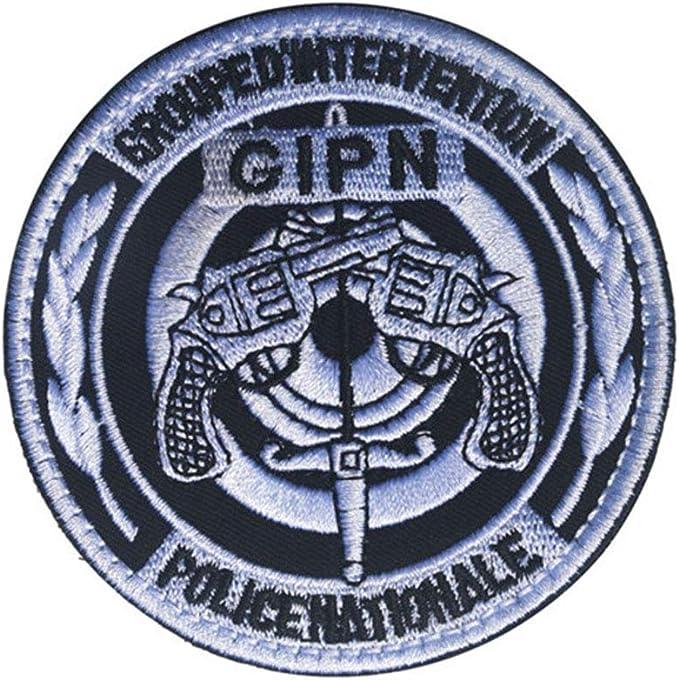 Ohrong GIPN Parche bordado Francia Policía táctica moral parche arma insignia emblema con gancho y lazo para gorra militar abrigos mochila: Amazon.es: Hogar