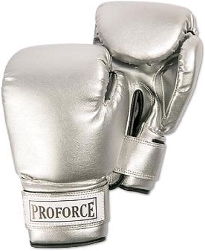 ProForce Leatherette Boxing Glove Black w//White Palm