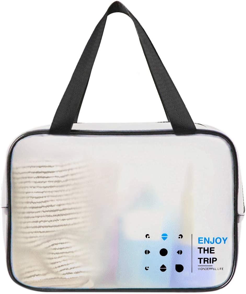 XIYUNTE Large Toiletry Bag Waterproof Wash Bag Thick TPU Makeup Bags for Men and Women Travel Storage Bag Include 1pcs Large Toiletries Bag + 4pcs Clothes Hangers + 3pcs Waterproof Bags