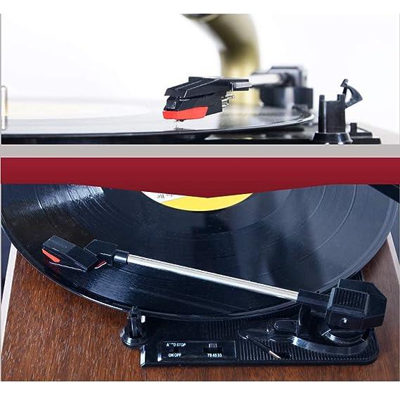 Amazon.com: GKPLY - Reproductor de vinilo, diseño retro de ...