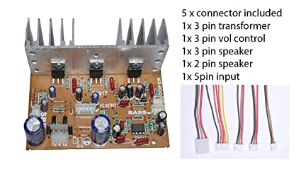 Nktronics 2 1 Home Theater Amplifier Board 100watt with Bass Boost Support  TDA2030 Based