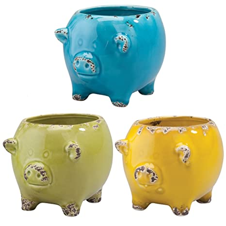 Astonishing Miles Kimball Ceramic Pig Planter Set Of 3 Pabps2019 Chair Design Images Pabps2019Com