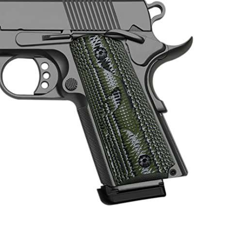 Cool Hand 1911 Compact/Officer G10 Grips, Free Screws Included, Punisher  Skull Texture