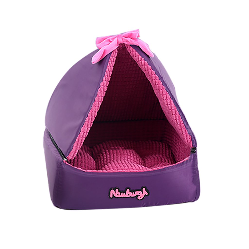 Purple Mezie- Pet Kennel Cat Nest Removable And Washable Four Seasons ApplySmall Dog Bed Mat Dog Room,Purple , Pink,5050cm ( color   Purple )