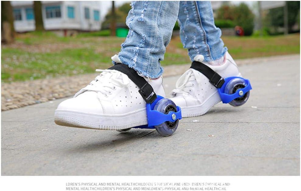 Hit The Street and Speed Around Kid Flashing Heel Wheel Roller Skatting Shoes,Popular Flashing Wheels,Strap-in Adjustable Roller Skate Frames for Kids Fun Outside at Park or Beach