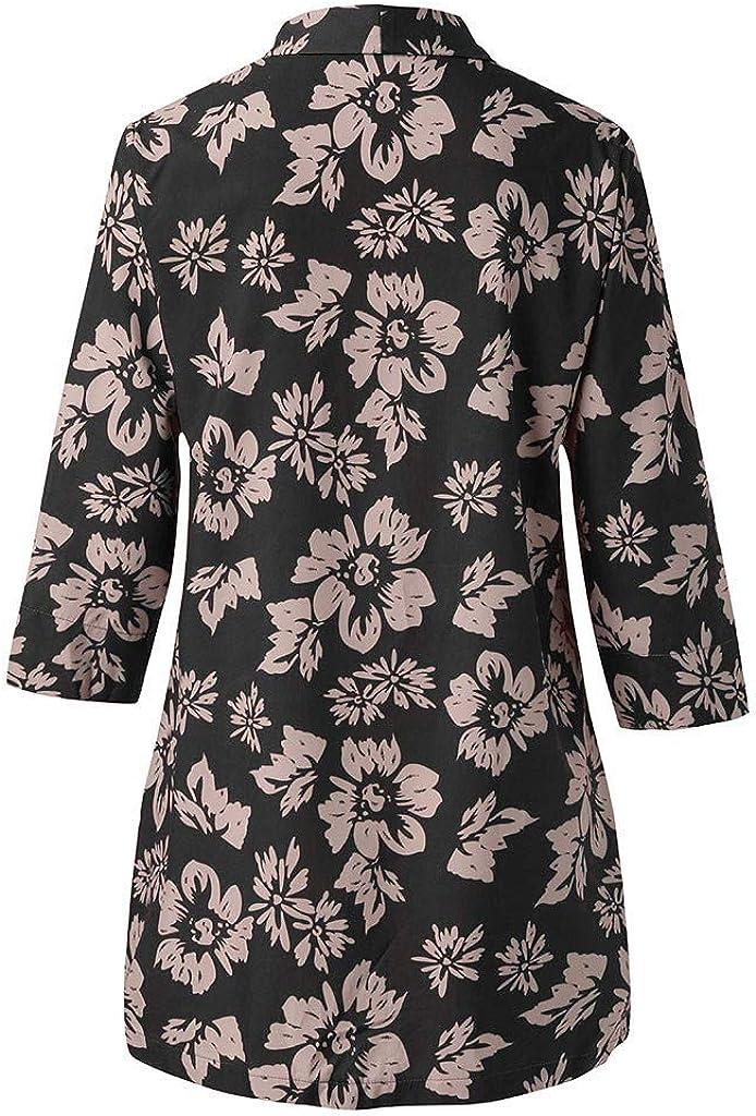 DEELIN Kimono Mujer Moda De Verano ImpresióN Floral Suelta ...