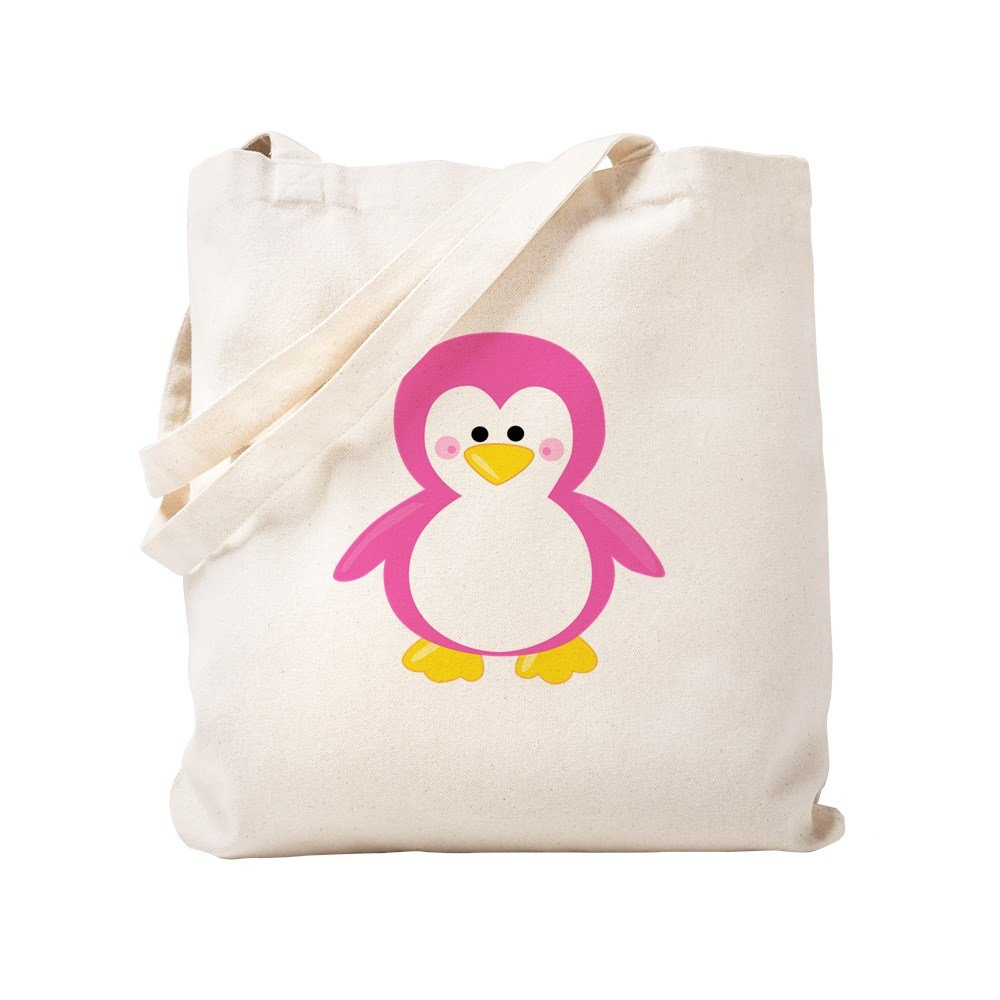 CafePress – ピンクPenguin – ナチュラルキャンバストートバッグ、布ショッピングバッグ S ベージュ 1673810149DECC2 B0773TYCPZ S