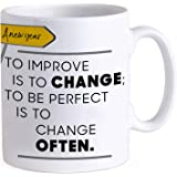 TIED RIBBONS Happy New Year Gift for Corporate Gifting, Employees, Boss, Motivational Quotes Printed Coffee Mug(325 ml)