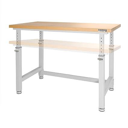 Ultrahd Adjustable Height Heavy Duty Wood Top Workbench 48 X 24