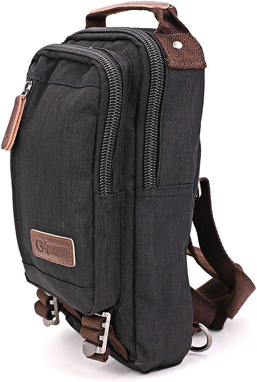 GK Eurosport Durable Nylon TravelOutdoorDaypack Black Nylon Negro mochila