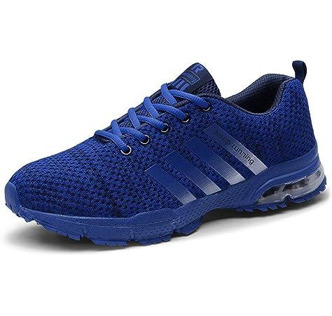 LuckyGirls Hombre Zapatillas de Correr Camuflaje Malla Casual Calzado de Deporte Transpirables Zapatos Deportivos con Cordones Moda Bambas de Running: Amazon.es: Deportes y aire libre