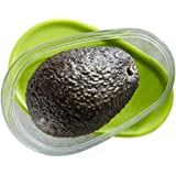 Avocado Saver, Keeper, Storage Box - Preserves Freshness, Portable, Seal Tight, Dishwasher & Refrigerator Proof - Ideal for Work, College, Outdoor - Design and Colour - Modern/Green/Transparent