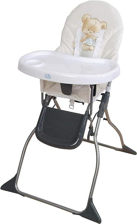 Trona para bebe plegable,bandeja extraible,modelo osito beig ...