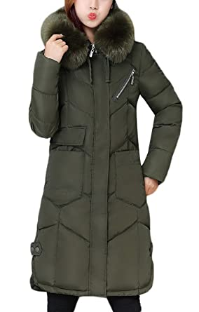 Amazon.com: La Vogue Women's Winter Warm Long Coat Quilted Parka ... : quilted parka jacket - Adamdwight.com