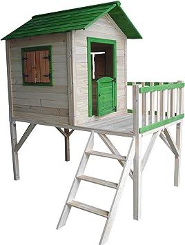 Outdoor Toys Casita Infantil de Madera Funny 188x161x216 cm - KNH1005: Amazon.es: Juguetes y juegos