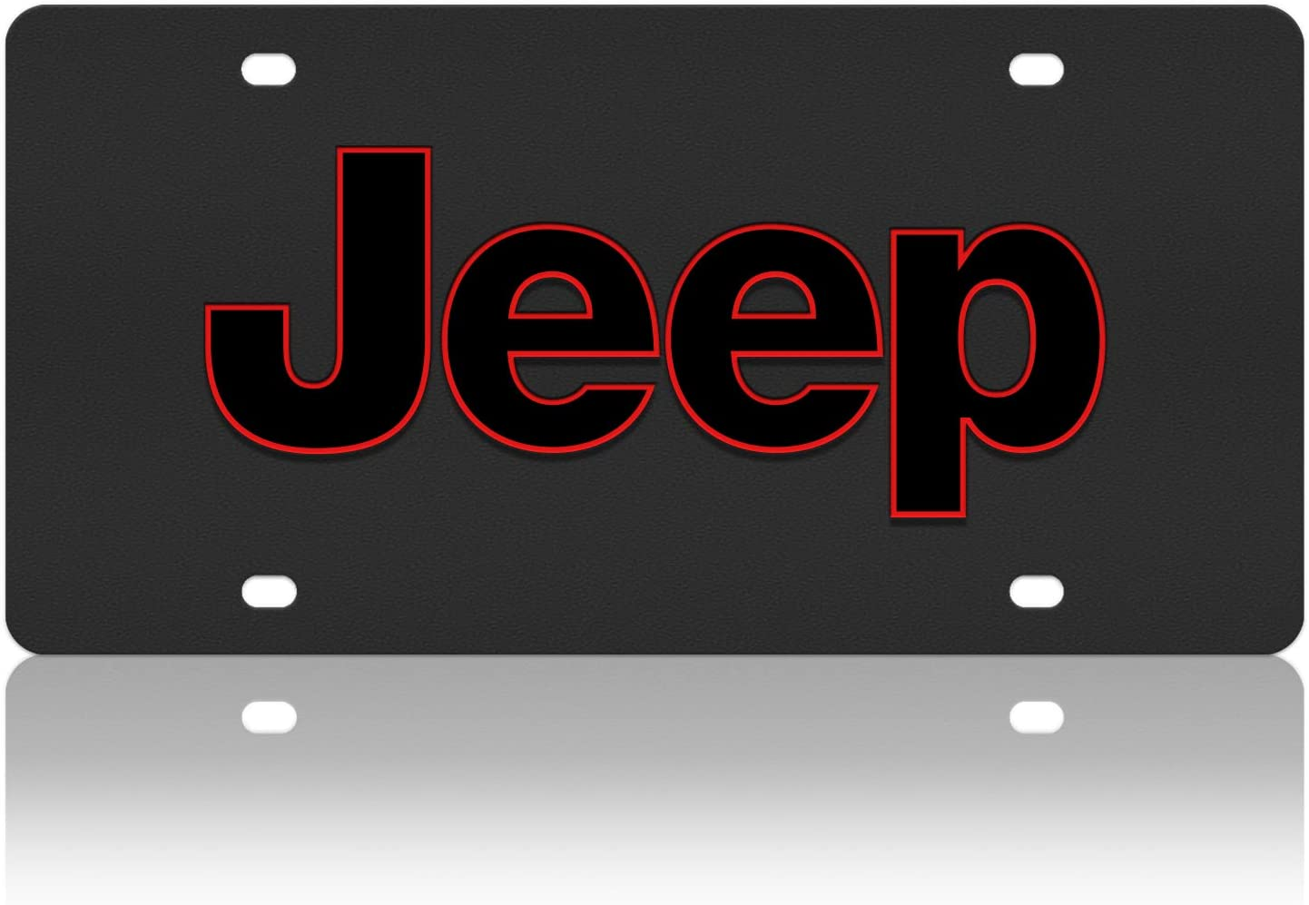 Compatible with Jeep Word Carbon Steel License Plate Eurosport Daytona