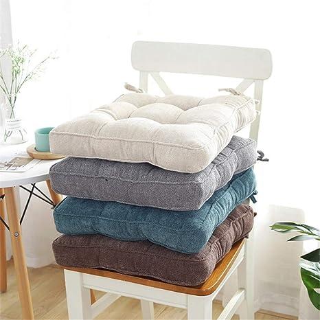 YYYL 2 Piezas,Cojines para Asientos, Cojines tapizados Muebles de jardín, 45 x 45 x 10 cm, en Diferentes Formas y Colores, Gris, Cuadrado