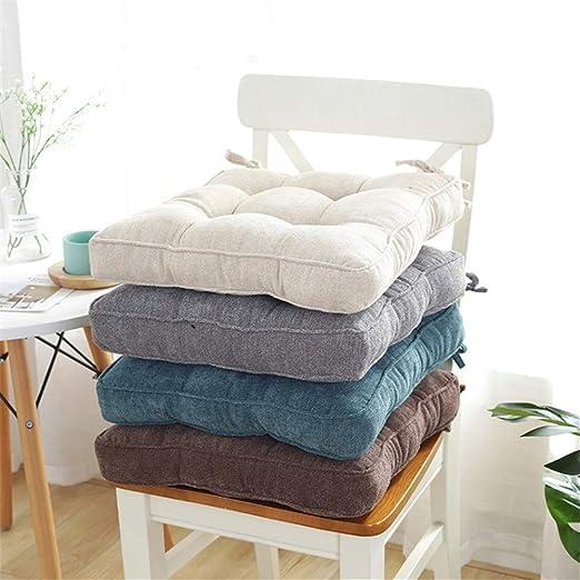 YYYL 2 Piezas,Cojines para Asientos, tapizados Muebles de jardín, 45 x 45 x 10 cm, en Diferentes Formas y Colores, Beige, Cuadrado