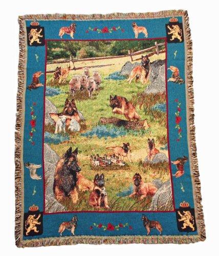Gone Doggin Belgian Tervuren Blanket Throw #1 - Exclusive Dog Breed Tapestry
