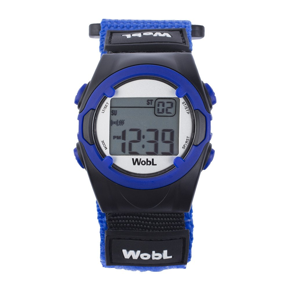 WobL - Blue 8 Alarm Vibrating Reminder Watch