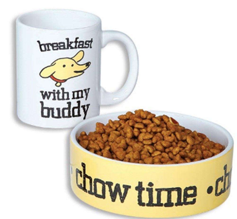 Coffee Mug and PET Bowl Set Breakfast Buddy