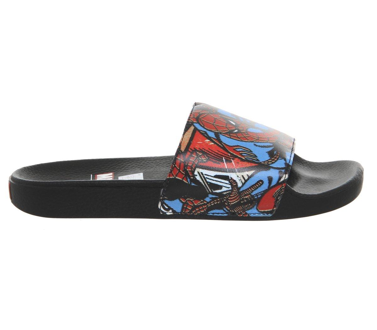 Vans Marvel Spiderman Slide on Sandale Schwarz Schwarz