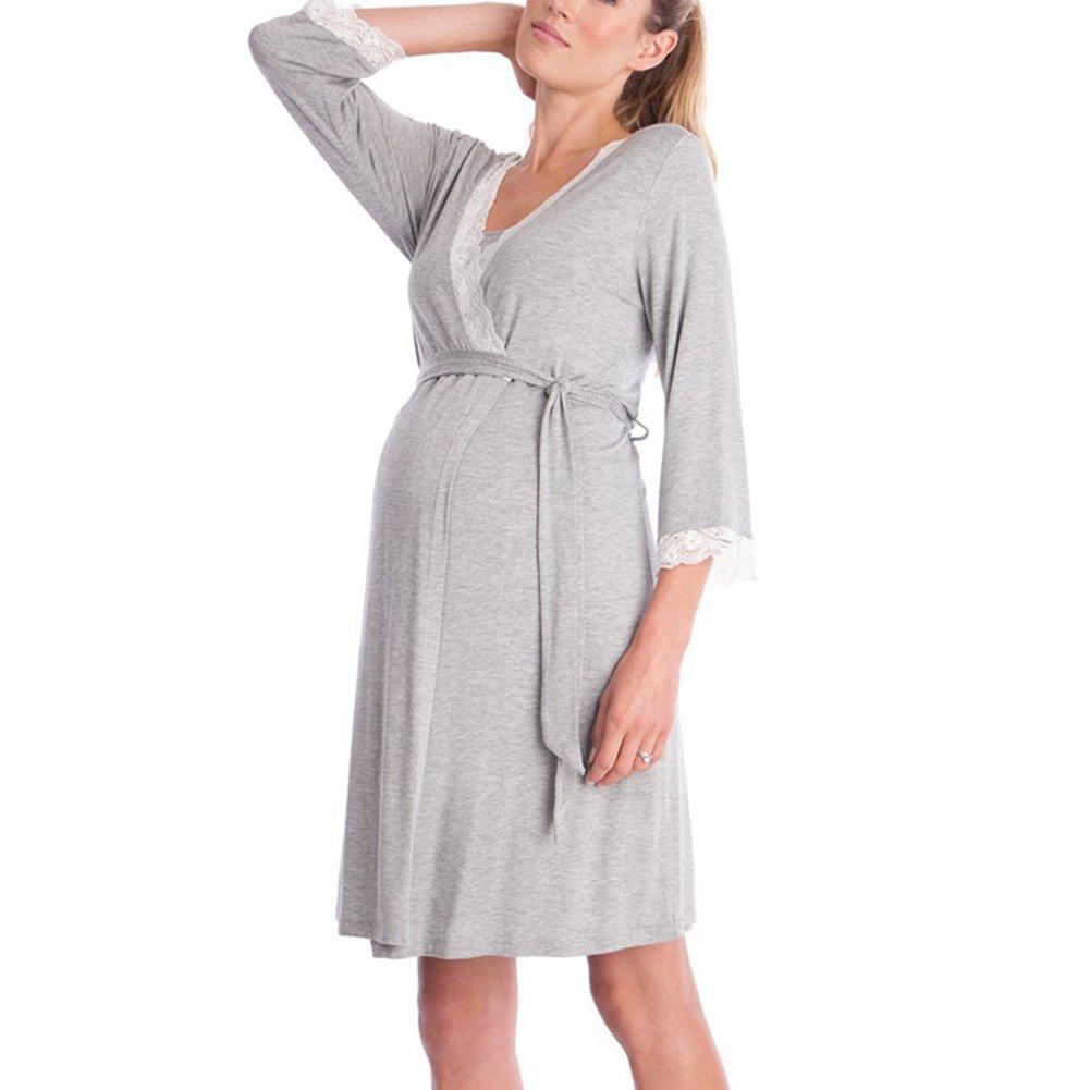 Meedot mujeres embarazadas vestido de lactancia maternidad lactancia vestido de noche vestido de maternidad mujeres B180319MD203-N