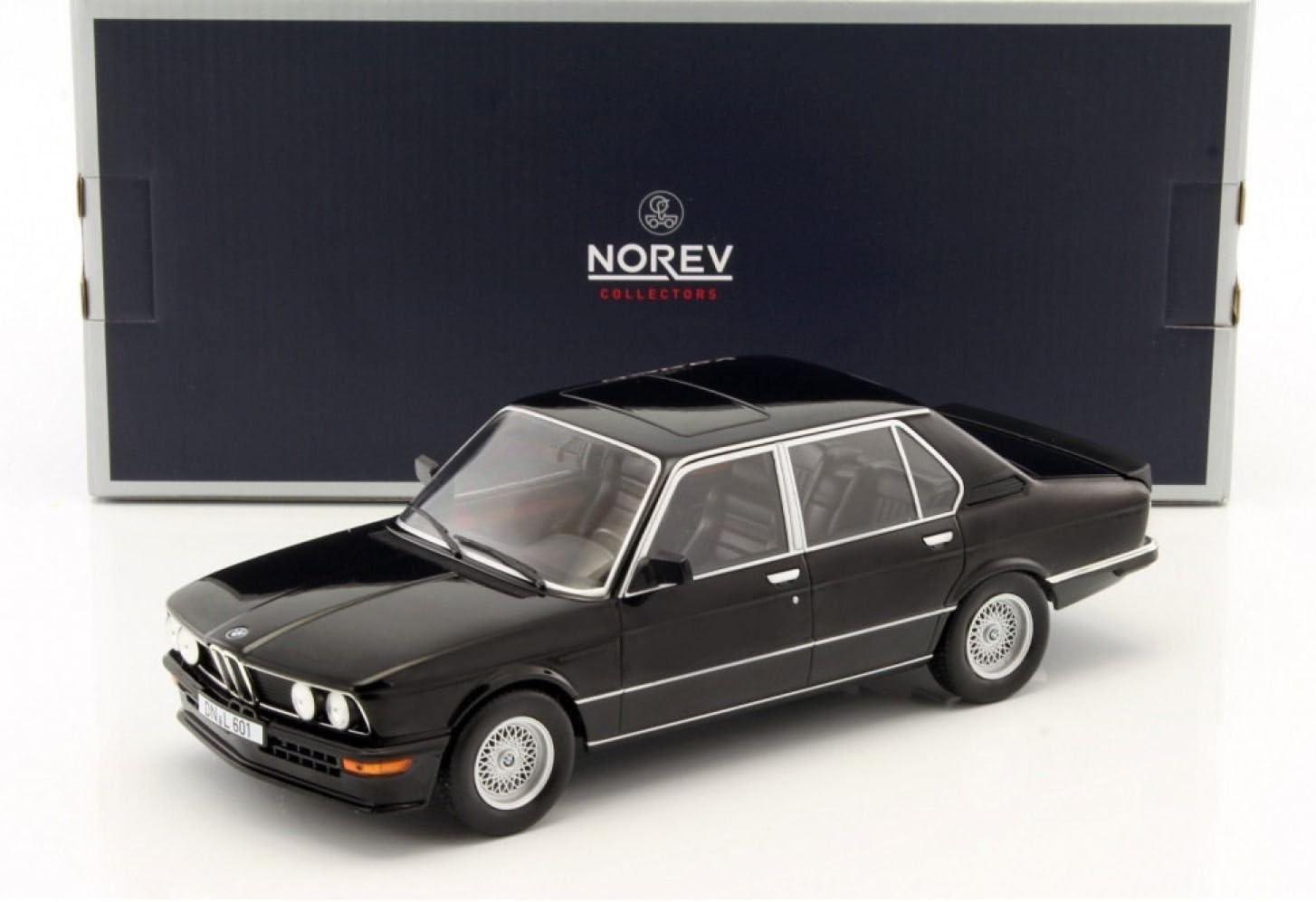 Norev 1:18 1980 BMW M535i Diecast Model Car Black 183264