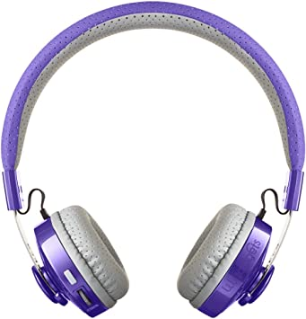 Amazon Com Lilgadgets Untangled Pro Kids Premium Wireless Bluetooth Headphones With Shareport And Microphone Children Purple Electronics