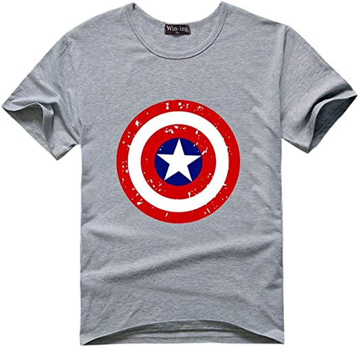 WENHUI Capitán América,Camiseta De Escudo,Camisetas para Hombre, Camisetas De Superhéroe, para Hombre Camiseta De Avengers,Camiseta De Algodón: Amazon.es: Hogar