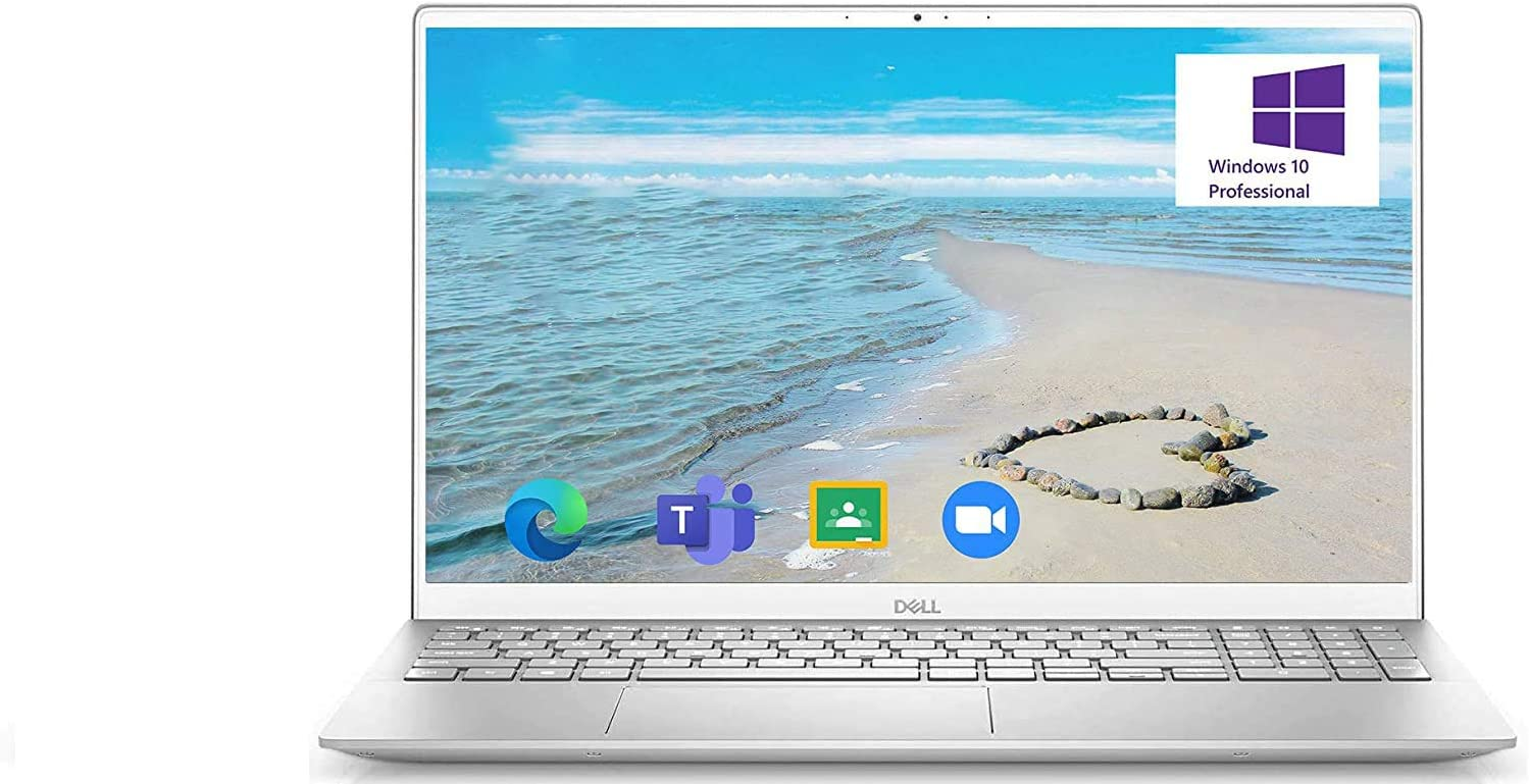 2020 Dell Inspiron 5000 Series 15.6'' FHD Laptop, Intel Core i7-1165G7, 16GB RAM 512GB PCIe SSD Webcam, Backlit Keyboard, FP Reader, Online Class Windows 10 Pro, Silver