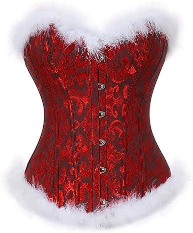 High Quality Short Waist reducing Chincher corset in red /& black flower Brocade