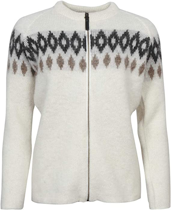ICEWEAR Hildur Women's Warm Wool Zip Through Outdoor Sweater