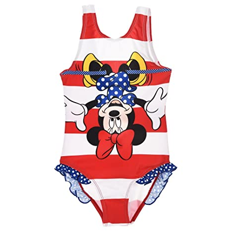 Disfraz Playa Minnie Ratón Disney Bañador niña tallas 3/8 años ...